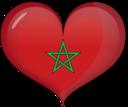 Morocco Heart Flag