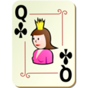 Ornamental Deck Queen Of Clubs