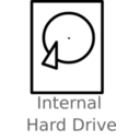 download Hard Drive Labelled clipart image with 135 hue color