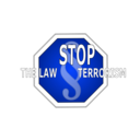 download Stop The Law Terrorism clipart image with 225 hue color