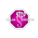 download Stop The Law Terrorism clipart image with 315 hue color