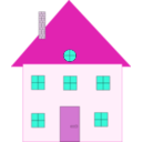 download House 2 clipart image with 315 hue color