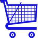 download Cart Medium clipart image with 225 hue color