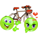 download Valentine Pink Bicycle Smiley Emoticon clipart image with 45 hue color