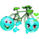 download Valentine Pink Bicycle Smiley Emoticon clipart image with 135 hue color