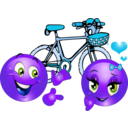download Valentine Pink Bicycle Smiley Emoticon clipart image with 225 hue color