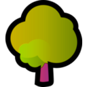 download Isometric Tree clipart image with 315 hue color