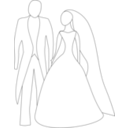 download Bride And Groom clipart image with 180 hue color