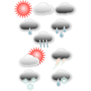 download Weather Symbols clipart image with 315 hue color