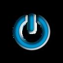 Blue Power Sign Button