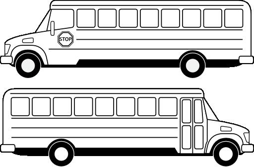 deux bus scolaires noirs clipart  i2clipart  royalty