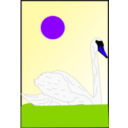 download Swan clipart image with 225 hue color