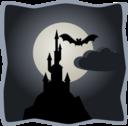 Spooky Castle In Full Moon