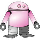 download Cartoon Robot clipart image with 135 hue color