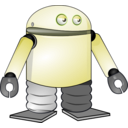 download Cartoon Robot clipart image with 225 hue color