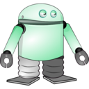 download Cartoon Robot clipart image with 315 hue color