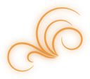 Orange Glowing Flourish