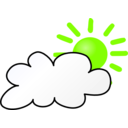 download Weather Symbols Cloudy Day clipart image with 45 hue color
