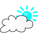 download Weather Symbols Cloudy Day clipart image with 135 hue color