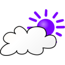 download Weather Symbols Cloudy Day clipart image with 225 hue color