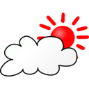 download Weather Symbols Cloudy Day clipart image with 315 hue color