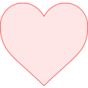 download Pink Heart clipart image with 0 hue color