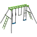 download Swing Set clipart image with 45 hue color