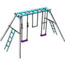 download Swing Set clipart image with 135 hue color