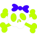 download Girl Skull clipart image with 135 hue color