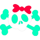 download Girl Skull clipart image with 225 hue color