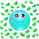 download Lover Boy Smiley Emoticon clipart image with 135 hue color