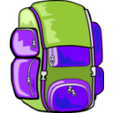 download Backpack clipart image with 225 hue color