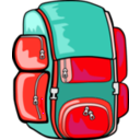 download Backpack clipart image with 315 hue color