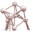 download Atomium Belgium clipart image with 315 hue color