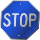 download A Stop Sign clipart image with 225 hue color