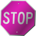 download A Stop Sign clipart image with 315 hue color