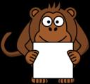 Sign Holding Monkey