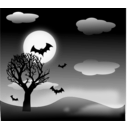 download Halloween Landscape clipart image with 135 hue color