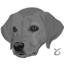download Dog Head clipart image with 315 hue color