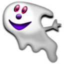 download Halloween Ghost 2 clipart image with 270 hue color