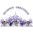 download Seasons Greetings Card Front clipart image with 45 hue color