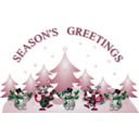 download Seasons Greetings Card Front clipart image with 135 hue color