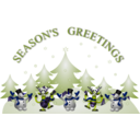 download Seasons Greetings Card Front clipart image with 225 hue color
