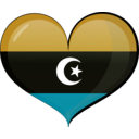 download Libya Heart Flag clipart image with 45 hue color
