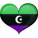 download Libya Heart Flag clipart image with 135 hue color
