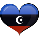 download Libya Heart Flag clipart image with 225 hue color