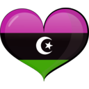 download Libya Heart Flag clipart image with 315 hue color