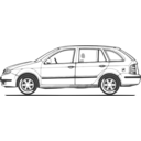download Fabia Side View clipart image with 225 hue color