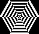 Hexagon Zebra Pizza