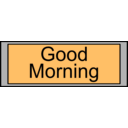 download Digital Display With Good Morning Text clipart image with 315 hue color